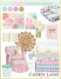 bright pastel baby bedding caden lane
