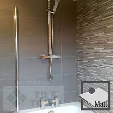 lounge dark grey matt bathroom wall tile