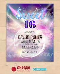 Printable Sign Sweet 16 Party Invitation Size 8x10 Inches Sku Cbi123