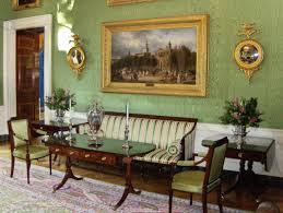 White house floor1 green roomjpg Interior The White House Museum Green Room White House Museum