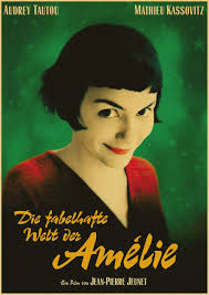 romantic movie poster amelie tautou french romantic literature home furnishing