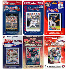 c i collectables mlb atlanta braves 6 diffe licensed trading card team sets com