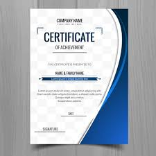 Certificate Background Free Blue Wavy Certificate Template Vector Free Download