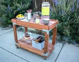 outdoor serving bar ideas plans cart chrome home patio
