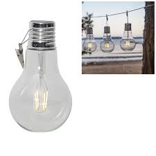Led Solar Bulb 18x10 Cm With Fixing Clip Outdoor Deco Beautiful Home