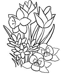 Easy Spring Coloring Pages With Printable Spring Coloring Pages