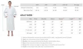 Size Chart Comfyrobes Com