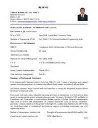 resume sample for quantity surveyor quantity surveyor resume