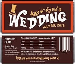 chocolate bar wrappers willy wonka inspired wedding candy bar wrappers