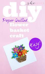 Paper Quilling Flower Baskets Paper Quilling Flower Basket Project Shesaved