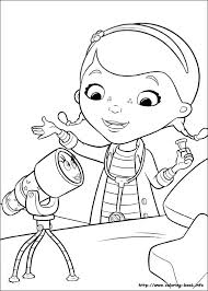 Doc Mcstuffins Coloring Pages B2243 Free Printable Doc Colouring