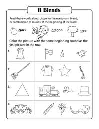These phonics activity sheets aim to build a child's knowledge of vowels some of the phonics activity sheets focus on a single blend. Consonant Sounds R Blends Worksheet Education Com