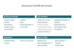 first year reports mphils and phd theses for ties of  7 know your camsis self service