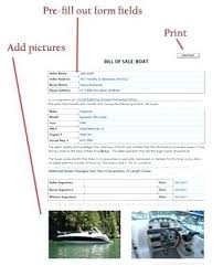 Boat Bill Of Sale Watercraft Template Example Sample Purchase ...