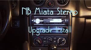 nb miata stereo install youtube