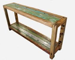 recycled wooden furniture. Console Table Recycled Boat Wooden Furniture