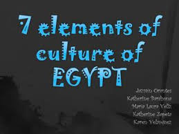 7 Elements Of Culture 7 Elements Of Culture Of Egypt By Kathy Barahona Issuu