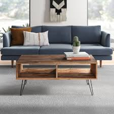 This table is simple, sturdy, beautiful, and made on a budget. Round Hairpin Coffee Table Wayfair