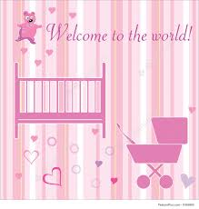 Welcome Card Templates Newborn Welcome Card Illustration