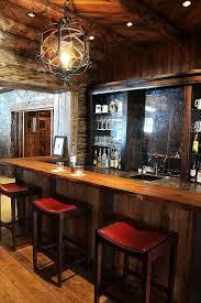 antiqued mirror backsplash home bar rustic with red leather barstools home bar red leather barstools cabinet lighting backsplash home