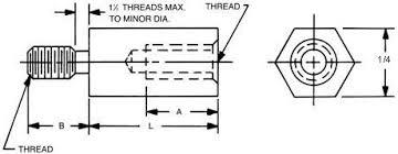 <b>Male</b>-<b>Female</b> Standoff - 1/4 <b>Hex</b>
