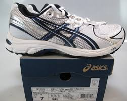 nib asics gel tech walker neo mens walking shoes white navy white