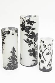 three beautiful dramatic cameo glass black and white graduated