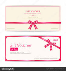 Coupon Format Template Love Theme Gift Certificate Voucher Gift Card Or Cash Coupon