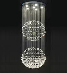 sophisticated crystal ball chandelier of double floating home and furniture