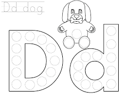 Alphabet Dot Coloring Pages Polka Letter Q Pictures Free Part 3