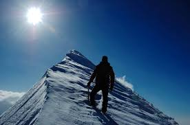 lead yourself by knowing yourself learning point group mountain climber reaching the summit