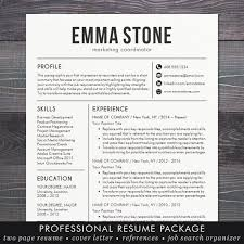 Cool Resume Templates For Mac Mesmerizing Resume Template CV Template For Word Mac Pages Etsy