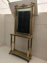 Coat Rack With Mirror Heritage Furniture Neoclassical Brass Hall Tree Coat Rack Mirror 83