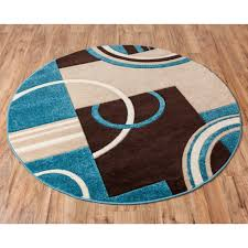 round area rugs with blue and brown best of echo shapes circles blue brown modern geometric