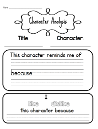Character Analysis Teaching Character Analysis in the Primary Grades Teaching 1