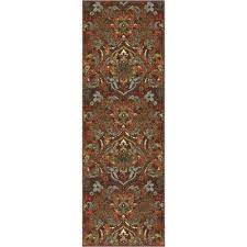 kings court florence brown 3 ft x 12 ft traditional rustic runner rug