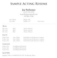 Basic Format Of Resume Sample Resume With No Work Experience No Job