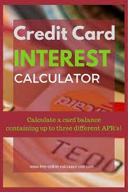 Credit Card Interest Calculator Credit Card Interest Calculator For Multiple Apr Balances A Board