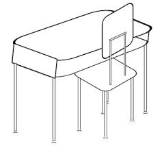 student desk clipart. Interesting Clipart Clip Art Of Student Desk Chair And Set With Desk Clipart O