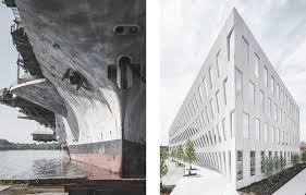 office facade. To This End, The Eastern Façade Leans Towards Pavement Like Bow Of A Ship, Looming Over Park, Progressively Tilting As Building\u0027s Height Office Facade