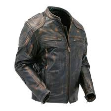 cafe racer quilted distressed brown distressed jackets