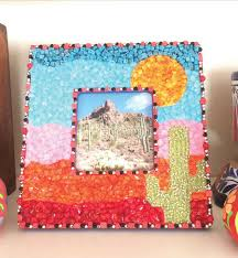 diy picture frame with mosaic tiles easy teen room decor ideas for girls