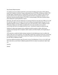 Sample Advocacy Letter Prevent Teen Pregnancy