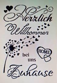Shabby Schablone Möbel Wand Stoff Farbe Schild Spruch Herzlich