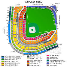 Wrigley Field Covered Seating Chart Wrigley Field Seating Chart Stadium Parking Guides