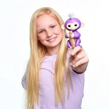 Shop WowWee Fingerlings Interactive Baby Monkey Toy: Bella (Pink ...