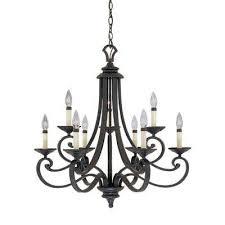 black metal chandelier. Monte Carlo 9-Light Hanging Natural Iron Chandelier Black Metal N