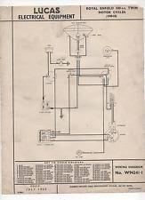 royal enfield motorcycle manuals and literature paper ebay Royal Wiring Diagrams vintage royal enfield twin wiring diagram lucas 1949 50 Schematic Circuit Diagram