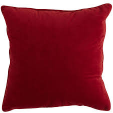 plush red pillow  pier  imports