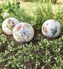 main image for watercolor ceramic garden globe